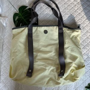 Lulu Lemon Yellow Beach or Gym Tote Bag